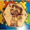 Wooden Clock - Bee Keeper